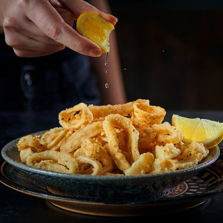 Fried Calamari with Romesco sauce